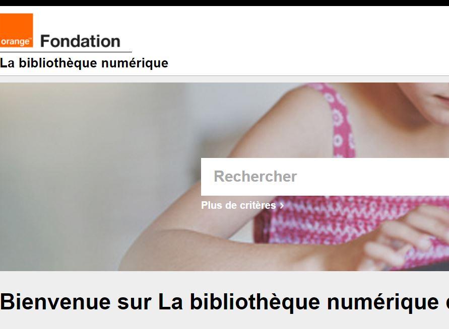 Fondation orange. Bibliothèque numérique